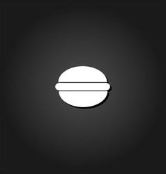 hamburger icon flat vector image