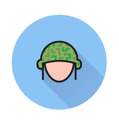 helmet icon on white background vector image