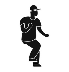 hip hop dancer icon simple style vector image