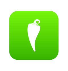 hot chili pepper icon digital green vector image