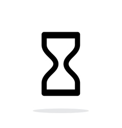 Hourglass icon on white background vector image