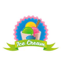 Ice cream logo vector