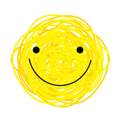 icon cheerful yellow smiley vector image