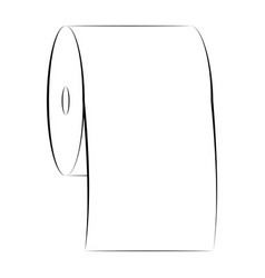 icon sign roll toilet paper symbol vector image