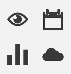 interface icons set collection of date eye vector image