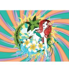 Island girl vector image