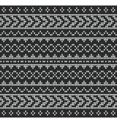 Knitting pattern sweater black vector
