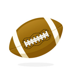 Leather american football ball vector