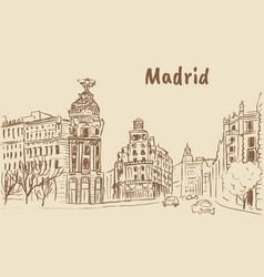Madrid capital of spain vector