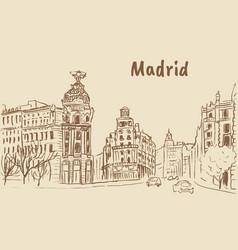 madrid capital spain vector image