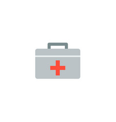 medical case icon flat element vector image