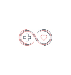 Medical health insurance icon and logo concept vector image