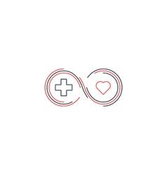 Medical health insurance icon and logo concept vector