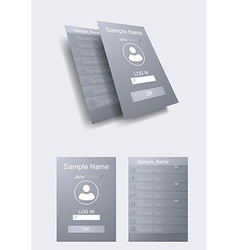 Mobile UI concept - flat design vector