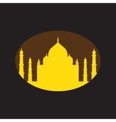Modern flat icon with Black background Indian Taj vector