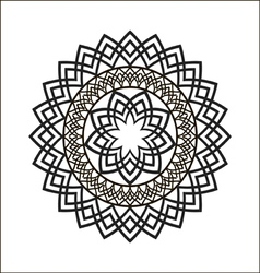 Monochrome ethnic ornament vector