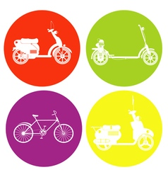 monochrome icon set with motorbike vector image
