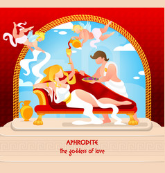 mythology is written aphrodite goddess love vector image