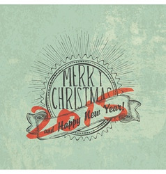 new year 2015 label vintage vector image