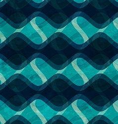 ocean wave seamless texture with grunge effect vector image