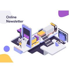 online newsletter isometric modern flat design vector image