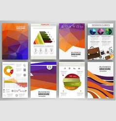orange and purple backgrounds abstract concept vector image