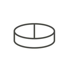 pill icon line medicine pill symbol vector image