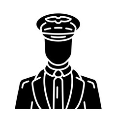 Pilot glyph icon vector
