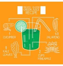 Pineapple jalapenogreen juice recipes great detox vector image