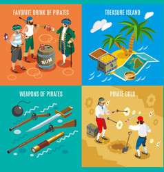 Pirates isometric design concept vector