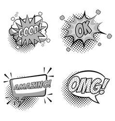 Pop art expressions vector