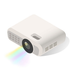 Projector for education entertainment business vector