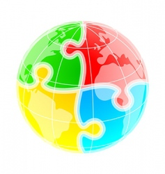 puzzle world vector image vector image
