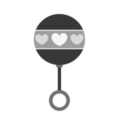 rattle baby toy icon image vector image