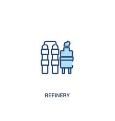 Refinery concept 2 colored icon simple line vector