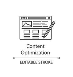 seo copywriting linear icon vector image