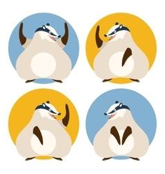 set badgers vector image