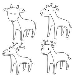 Set of deer vector