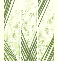 Set of vertical banner with many bamboos vector