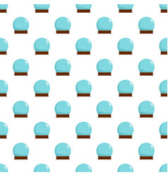 snow glass ball pattern seamless vector image