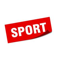 Sport sticker sport square sign sport peeler vector