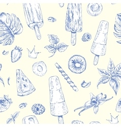summer natural eco food seamless pattern vector image