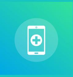 Telemedicine icon vector