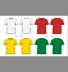 template t shirt design vector image