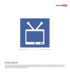 tv icon - blue photo frame vector image