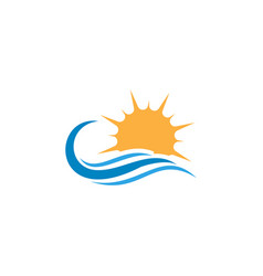 water and sun icon graphic design template vector image