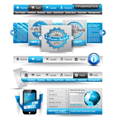 Web Templates collection vector image