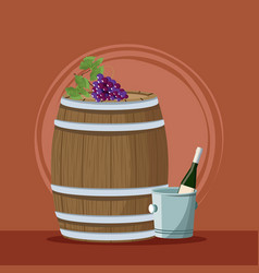wine and winery vector image