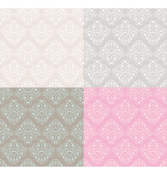 abstract pastel decorative seamless patterns vector image