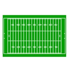 American Football Field with Line and Grass vector image